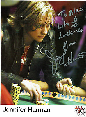 Jennifer Harman World Poker series winner  Hand Signed  Photograph 10 x 8