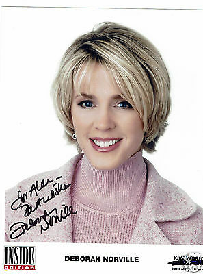 Deborah Norville American Journalist Inside edition Hand Signed  Photograph 10x8