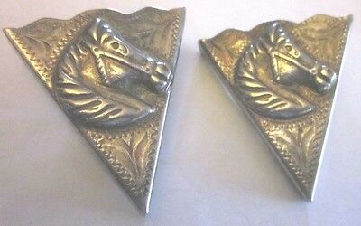 Alpaca Mexico COLLAR TIPS Raised Horse Heads, Etched Design
