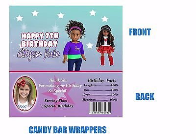 American Girl Candy Bar Wrappers, Candy bar wrappers, American Girl
