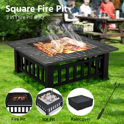 Portable Outdoor Fire Pit BBQ Camping Garden Patio Heater Fireplace