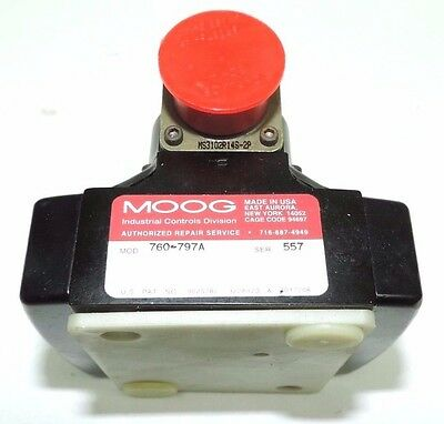 Moog 760-797A 760797A Direct-Operated Servo Valve For Analog Signals 760 Series