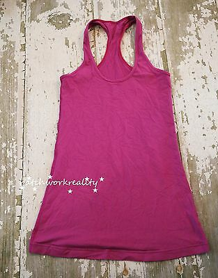 LULULEMON Athletica Purple Racerback Tank TOP Shirt RUn Gym Train Size 6