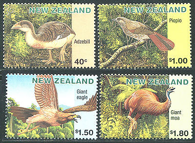 New Zealand 1996 Sc 1393, 1395, 1397-1398 Extinct Birds Moa Eagle CV $7.25