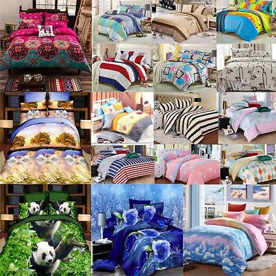 Single Double Queen King Size Printing Style Bedding Pillowcase Duvet Cover Set