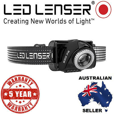 Genuine Led Lenser Black SEO 7R Head lamp 5 Yr Warranty Authorised Aussie Seller
