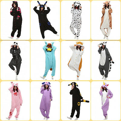New Design Kigurumi Unisex Fleece Animal Costume Pajamas Cosplay Playsuit One