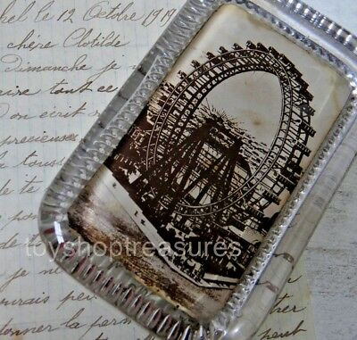 Antique Art Deco Glass Paperweight - Blackpool Ferris Wheel England