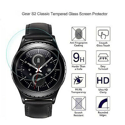 Premium Real Tempered Glass Screen Protector Film For Samsung Gear S2 Classic