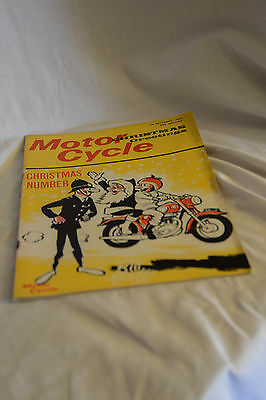 Vintage 24 December 1964 THE MOTOR CYCLE Bike Magazine: Christmas Number