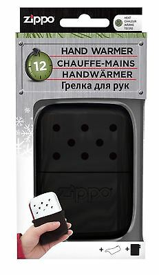 Zippo 12 Hour Easy Fill Re-Useable Non Reflective Hand Warmer with Logo - Black