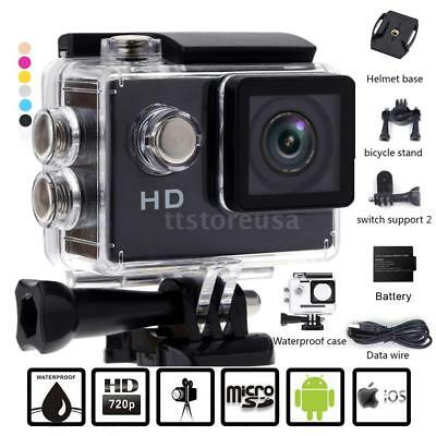 "HD 720P 2"" LCD Sport DV Action Camera Video Camcorder with Accessories Kits #US#"