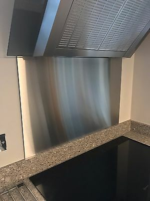 Economy Brushed Stainless Steel Cooker Splashback 750mm H (75cm) various widths