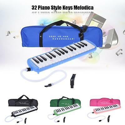 QIMEI QM32A-10 32 Piano Style Keys Melodica Musical Instrument for Beginner E0U3