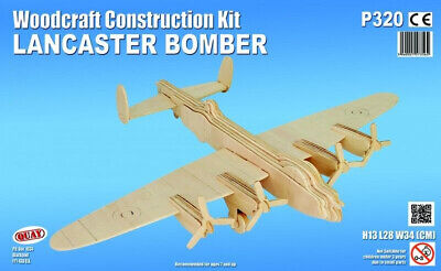 LANCASTER BOMBER Woodcraft Construction Kit -3D Wooden PLANE Model KIDS/ADULTS