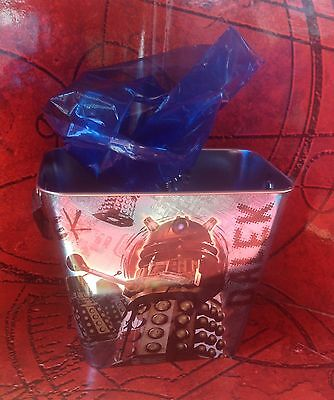 Easter  Doctor Who Dalek Davros Tin Bucket With 12 Character Chocolates Tardis