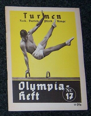 OLYMPICS 1936  Booklet  No. 17. - Gymnastics   (A).