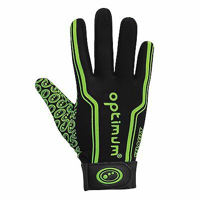 optimum velocity Full Finger Glove Black/fluro Green Small Boys