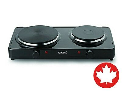 Aroma Double Hot Plate Burner Electric Range Stove Portable Buffet Kitchen Dorm