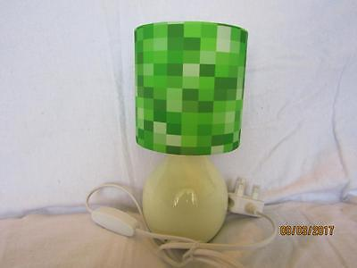 PIXELS BEDSIDE TABLE LAMP KIDS ROOM MATCHES MINECRAFT GAME with  FREE GIFT