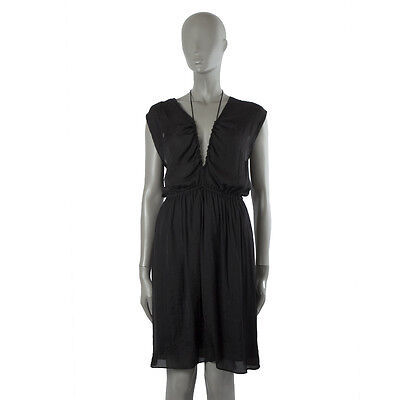 7626a37cf9 41213 auth ISABEL MARANT ETOILE black EMPIRE WAIST Sleeveless Dress 38 S