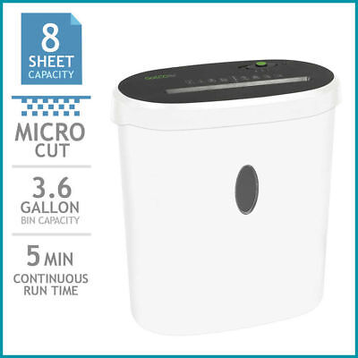 GoECOlife Limited Edition 8-Sheet Micro-Cut Shredder, Shreds Credit Cards