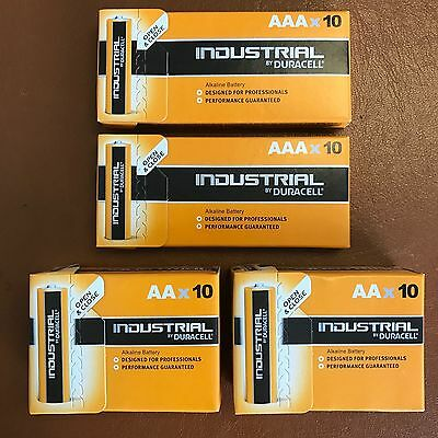 Duracell 20 AAA and 20 AA Industrial Battery 40 Procel Batteries Longest Expiry