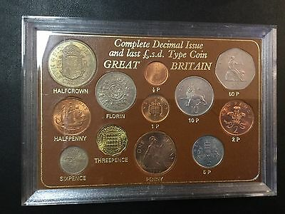 1967 Great Britain Complete Decimal Issue - Uncirculated Coins !