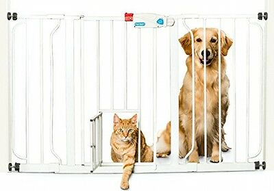 Carlson Pet Products Extra Wide Walk Thru Gate Dog Cat Door Stair Safety Gate