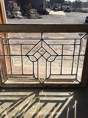 Rk 24 Antique Beveled Transom Window Arrow Design 21.5 X 32