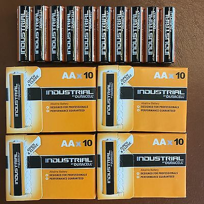 40 DURACELL INDUSTRIAL AA BATTERIES Profissional ALKALINE Replaces PROCELL LR6