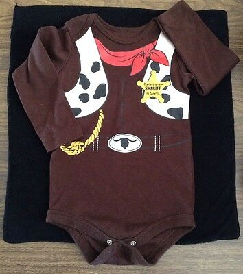 24m Baby Woody Cowboy Halloween Outfit Sheriff Costume Clothes Boy Girl