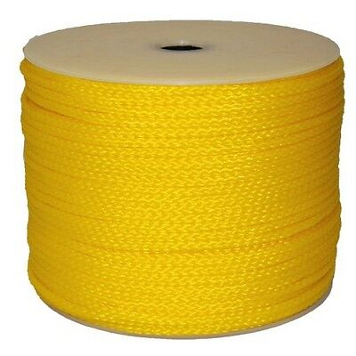 """T.W . Evans Cordage 3/8"""" By 250-Feet Hollow Braid Polypro Rope Yellow"""