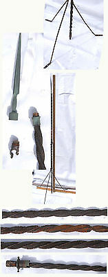 "Antique Vintage Lightning Rod W/tripod Stand & Spike Finial  60"" Tall"