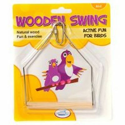 Happy Pet Wooden Bird Swing 16cm 21050