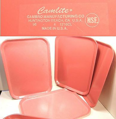 Lot 10 Vintage Camlite Cambro Fiberglass Cafeteria Buffet Serving Trays Orange