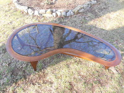 Rare Mid Century Lane Sihouette Amoeba Kidney Coffee Table Adrian Pearsall
