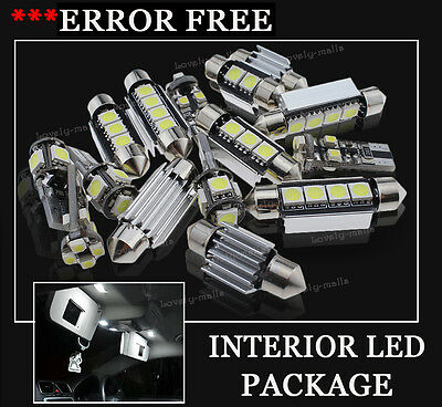 9x Bulbs For Audi A4 A6 B7 2000-2008 INTERIOR PACKAGE XENON White LED LIGHT KIT