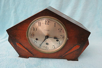 Vintage Art Deco Haller Westminster Chime Mantel Clock For Restoration