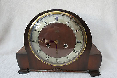 Vintage Smiths Enfield Richmond Striking Mantel Clock For Spares Repair