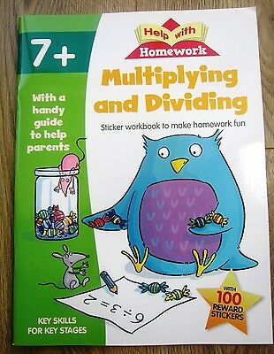 Multiplication Division Maths Activity Book Educational Children age 7 8 NEW