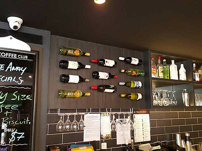 6 x Single Wine Bottle Racks - Metal