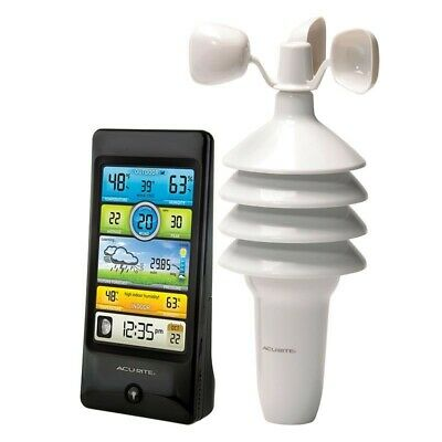 Acurite Pro Color Weather Station with Wind Speed Home Weather Tracker 01604