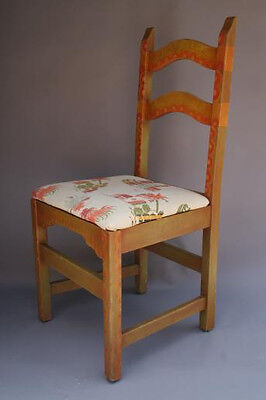 1930s Rancho California Monterey Period Hand Painted Side Chair Seat (3580)