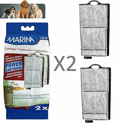 MARINA i25 REPLACEMENT FILTER POWER CARTRIDGE 2 IN PACK USED IN SMALL FISH TANK