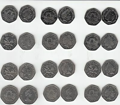 Jersey & Guernsey 50p £1 Coins multi-listing