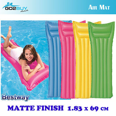 BESTWAY Floating Pool Mattress Inflatable Air Bed Beach Mat Sun Adult Lounger