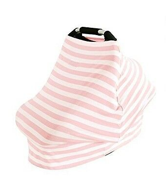 Car Seat Cover/ Baby Breastfeeding Scarf/with Matching Bag NEW - Pink