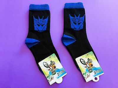 2 Pairs Transformers Boys Girls Kids Birthday Party Socks Size 5-8