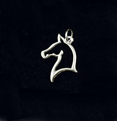 Sterling Silver-Plated Open Work Horse Head Charm - SALE BENEFITS RESCUE CHARITY